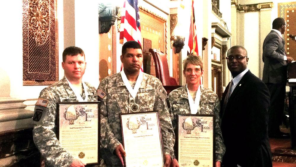 Jeffrey Boyd honoring soldiers during veteran's day