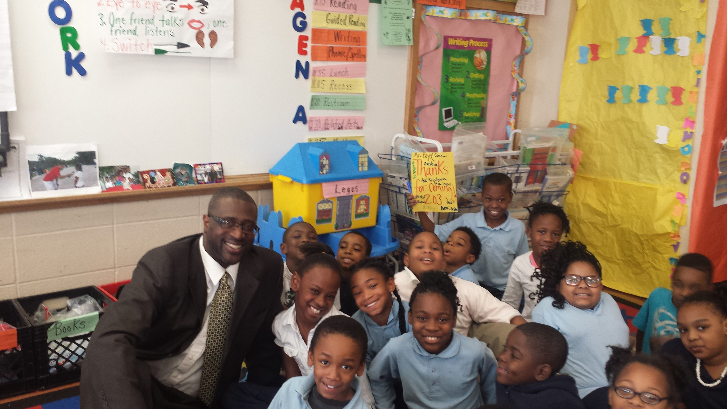 It was a pleasure learning with the 2nd graders at Peabody Elementary School. They are all doctors.