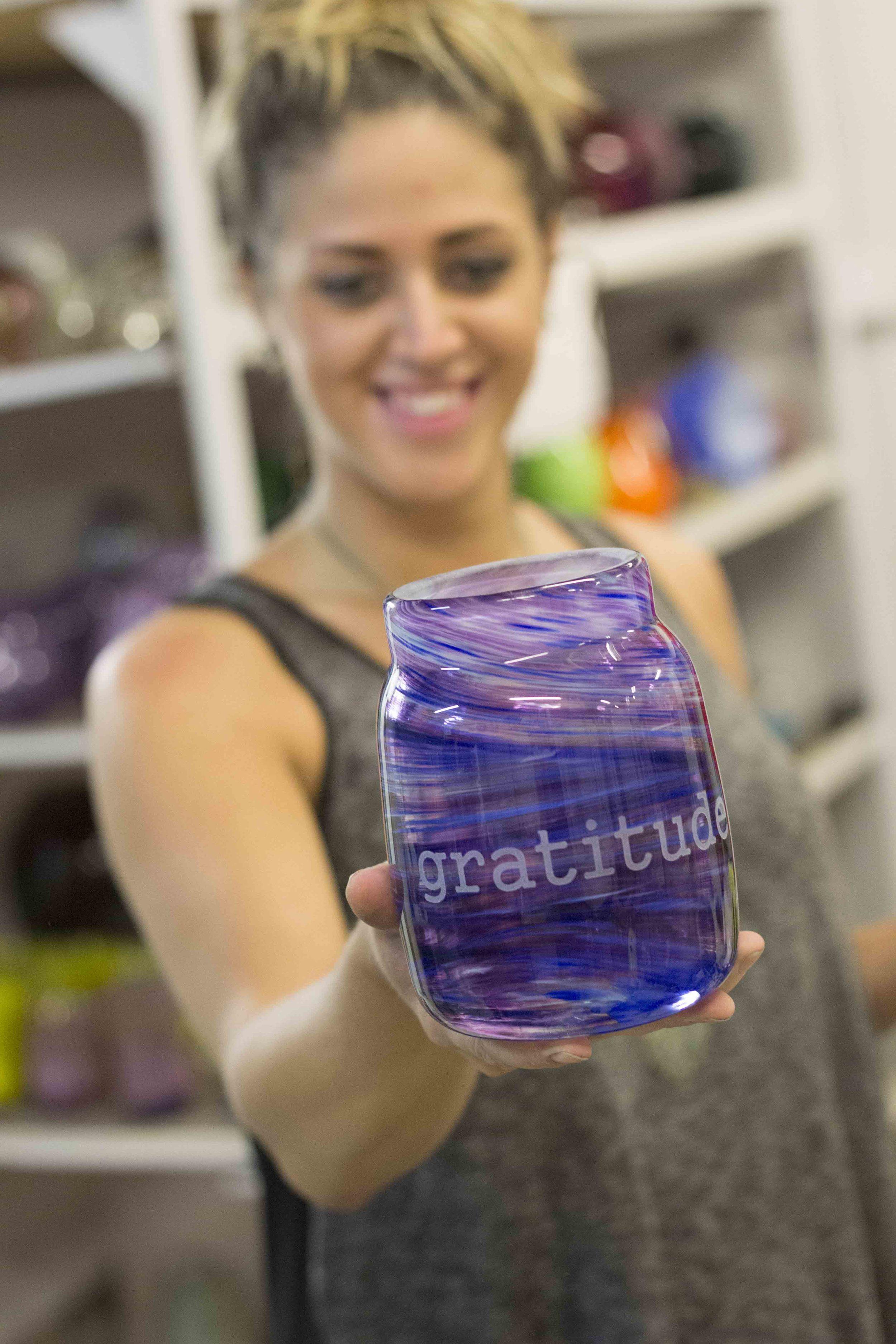 glass gratitude jar