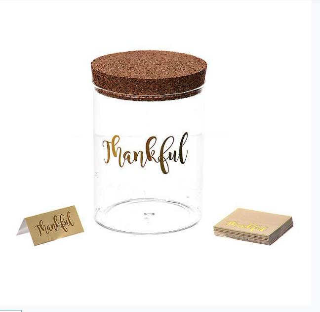 Glass Thankful Jar - Kirkland's