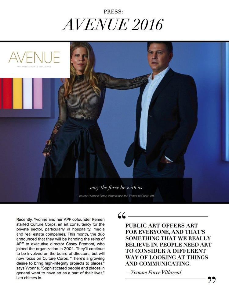 Culture Corps Avenue Magazine