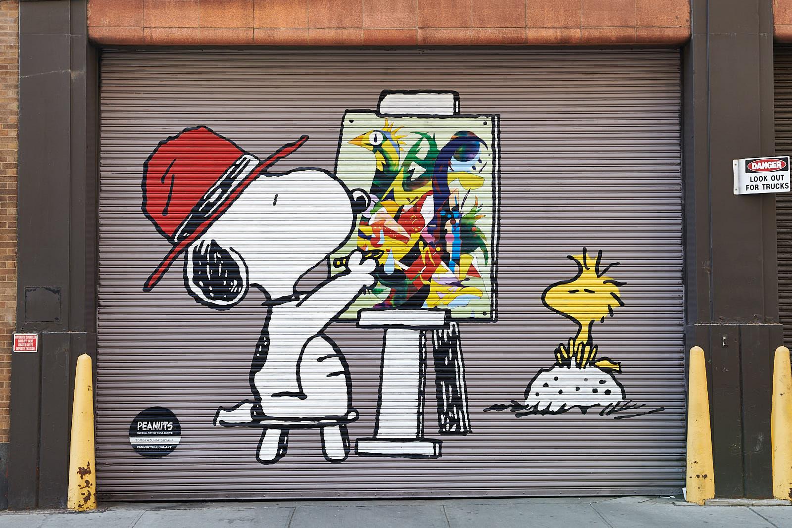 Tomokazu Matsuyama x Peanuts Global Artist Collective in New York City