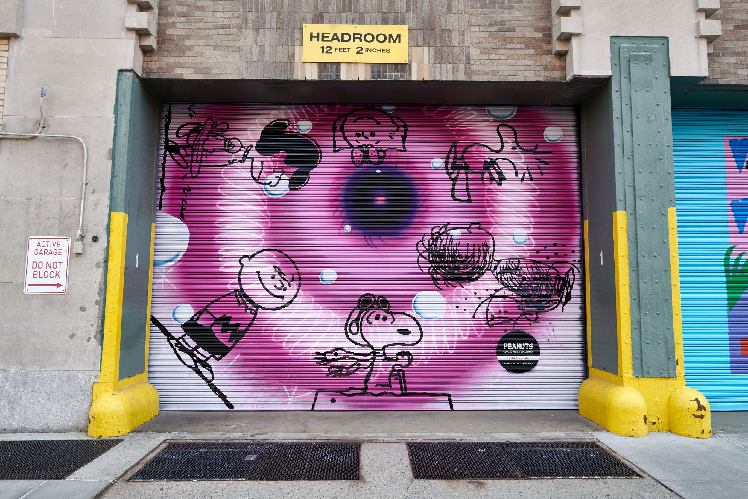 Kenny Scharf x Peanuts Global Artist Collective in New York City