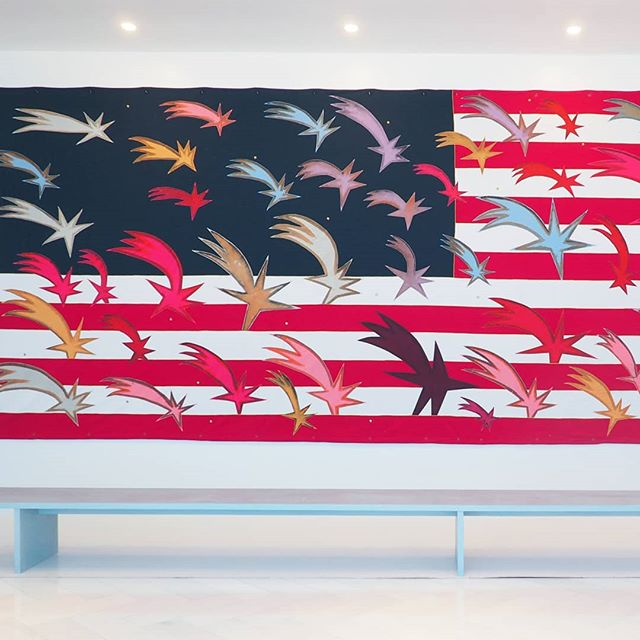"Happy 4th of July from the team at Culture Corps!!! ✨🎇🎆 Feeling patriotic with ""Wishing Stars"" by #FrancescoClemente!!! 💓🇱🇷💓"