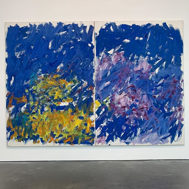 "Make sure you get to see ""Row Row"" by #JoanMitchell at #DavidZwirnerGallery before it closes ❕tomorrow ❕ 💙👀💙 #MustSee #RowRow #CultureCorps"