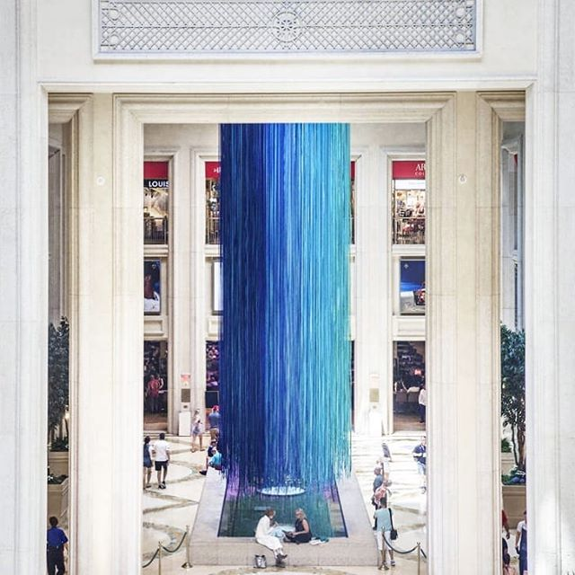 "Falling into the weekend as smoothly as ""Another Sky"" fell into the Venetian Waterfall Atrium!!! 💙ing #AnnePatterson's fantastic #ThrowbackThursday of this project  #FlashbackFriday 💙⛅💙 ・・・ #Repost @annepattersonstudio ・・・ TBT ANOTHER SKY at The Venetian/Palazzo Hotel. 33.5 miles of ribbon cascades out of the skylight in the Waterfall Atrium.  @culturecorps @doreenremen @yvonneforce @kinapark #anothersky  #installation #installationart #synesthesia #createeveryday #ribbons #publicart #artistsoninstagram #sculpture #sitespecific #artislife #interactiveart #multiplicity #kineticart #artistatwork #contemporaryart"