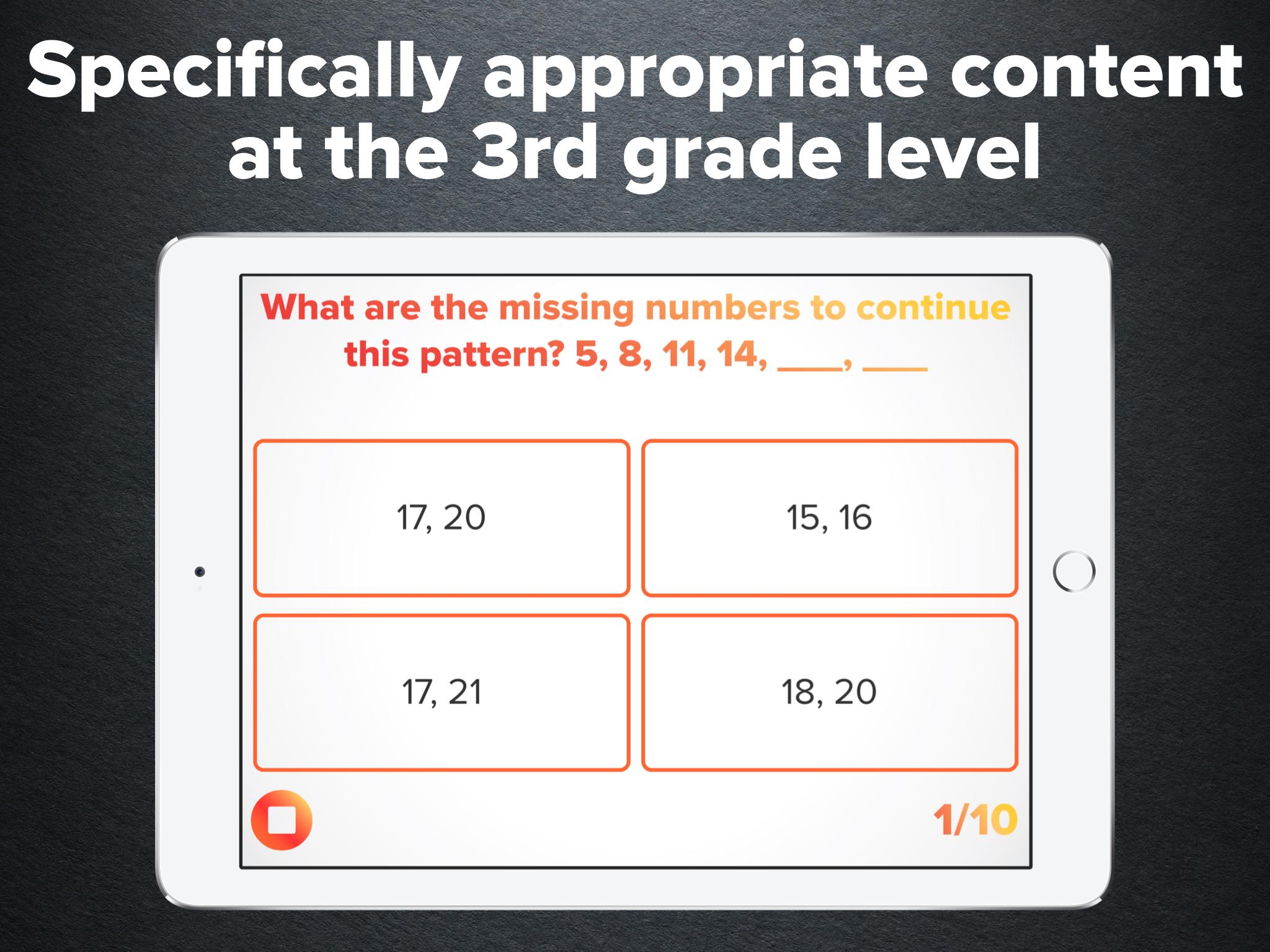 3rd Grade Math Practice — Peekaboo Studios