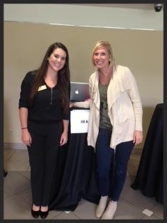 HR Director Meredith Osborn and Lindsey Wolfgang, former Launchpad intern
