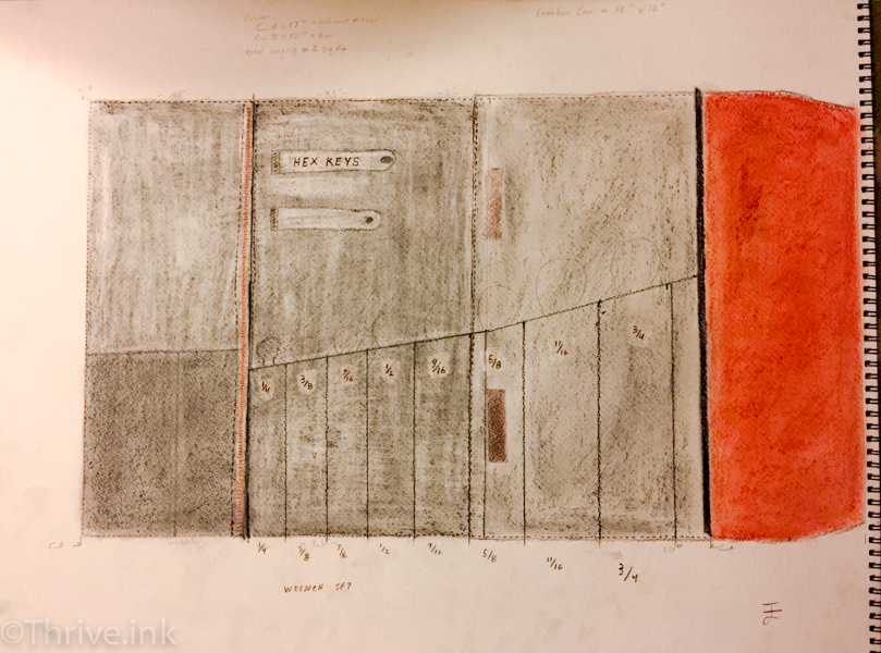 My Sketch of the Tool Roll.