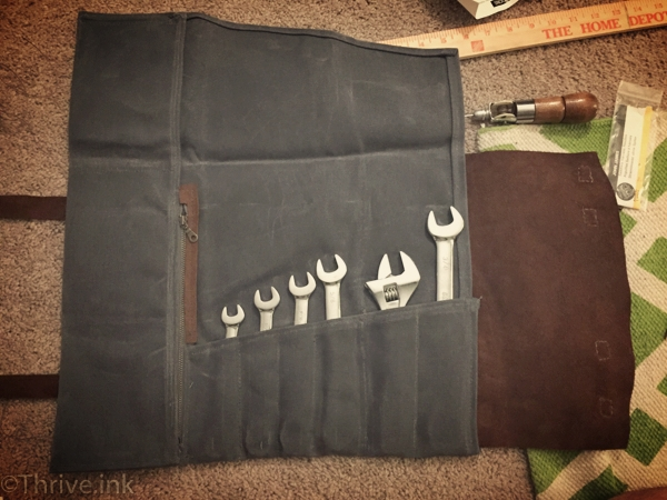 Waxed Canvas & Leather Tool Roll