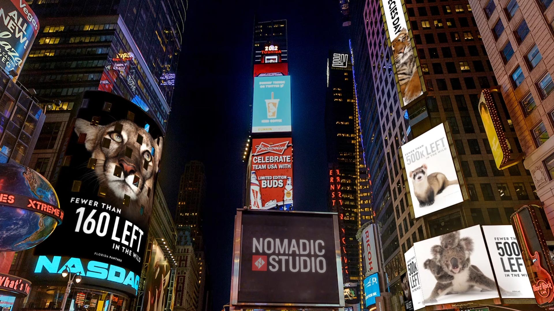 National Geographic    TIMES SQUARE TAKEOVER  Digital Billboards | Design & Animation   View