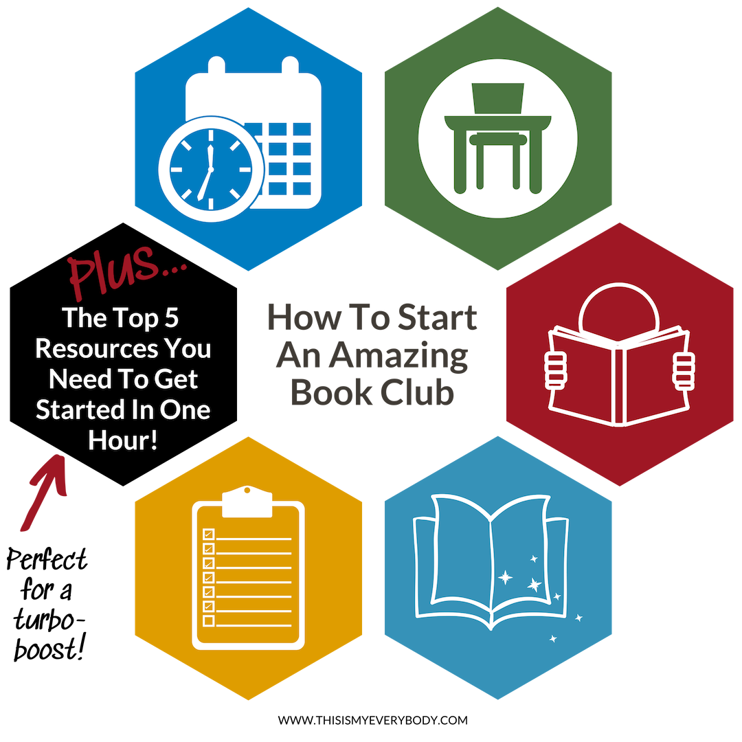 """How To Start An Amazing Book Club That Will Be Meaningful, Fun and Easy To Organize… Plus """"The Top 5 Resources You Need To Get Started In One Hour!"""" - Perfect for a turbo-boost to get up and running in a snap! 