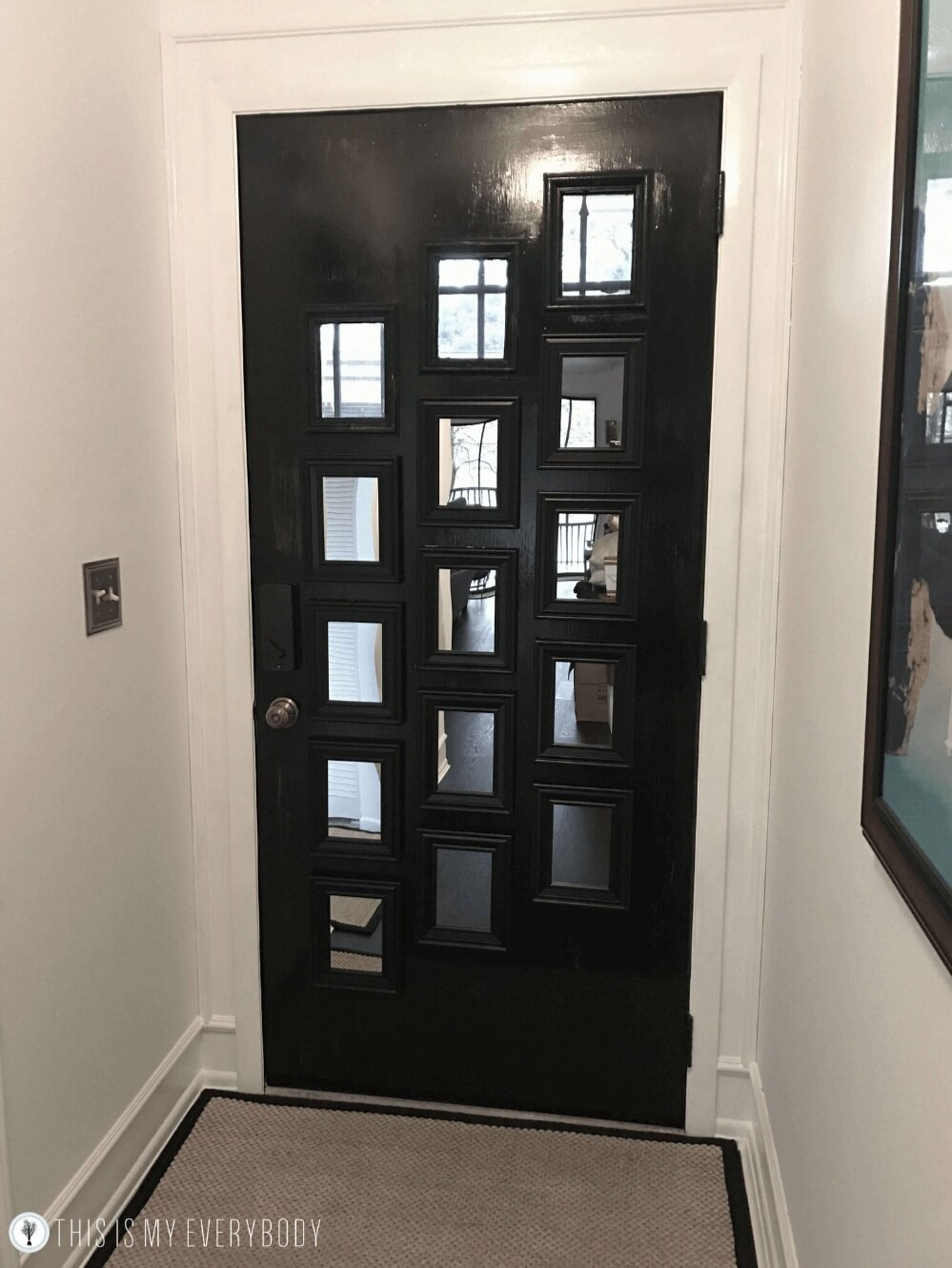 Front Door Makeover Diy Mirror French Door This Is My Everybody Books Diy Home Ideas Denise Wilbanks