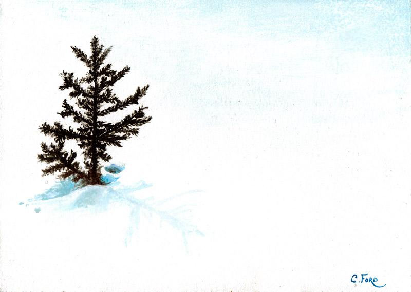 Peeking Through the Snow