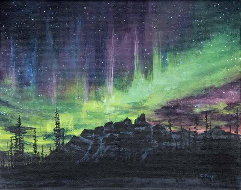 Castle Mountain Lights