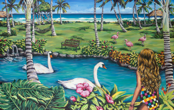 Tropical Swans