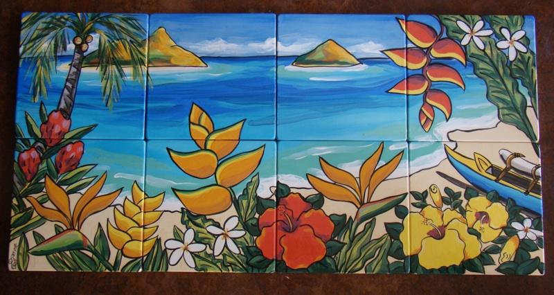 Lanikai Beach Mural