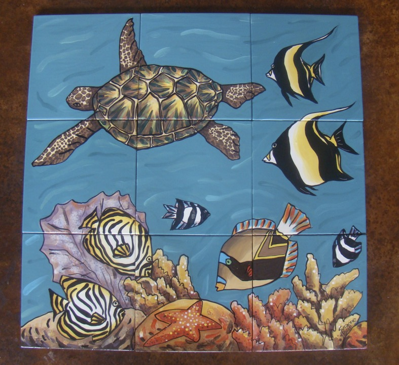 Turtle Swimming Left