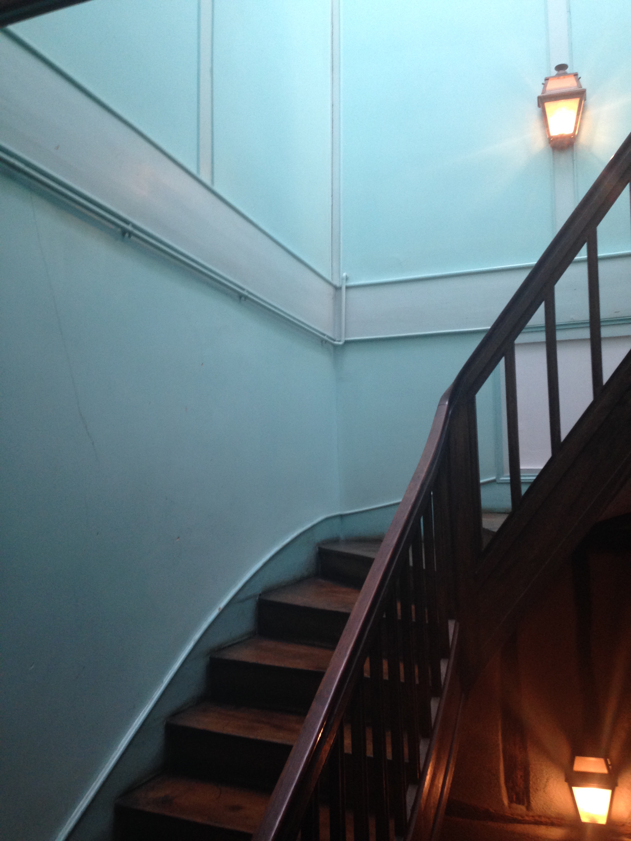 The stairwell in my apartment on rue Moyenne// Bourges, France