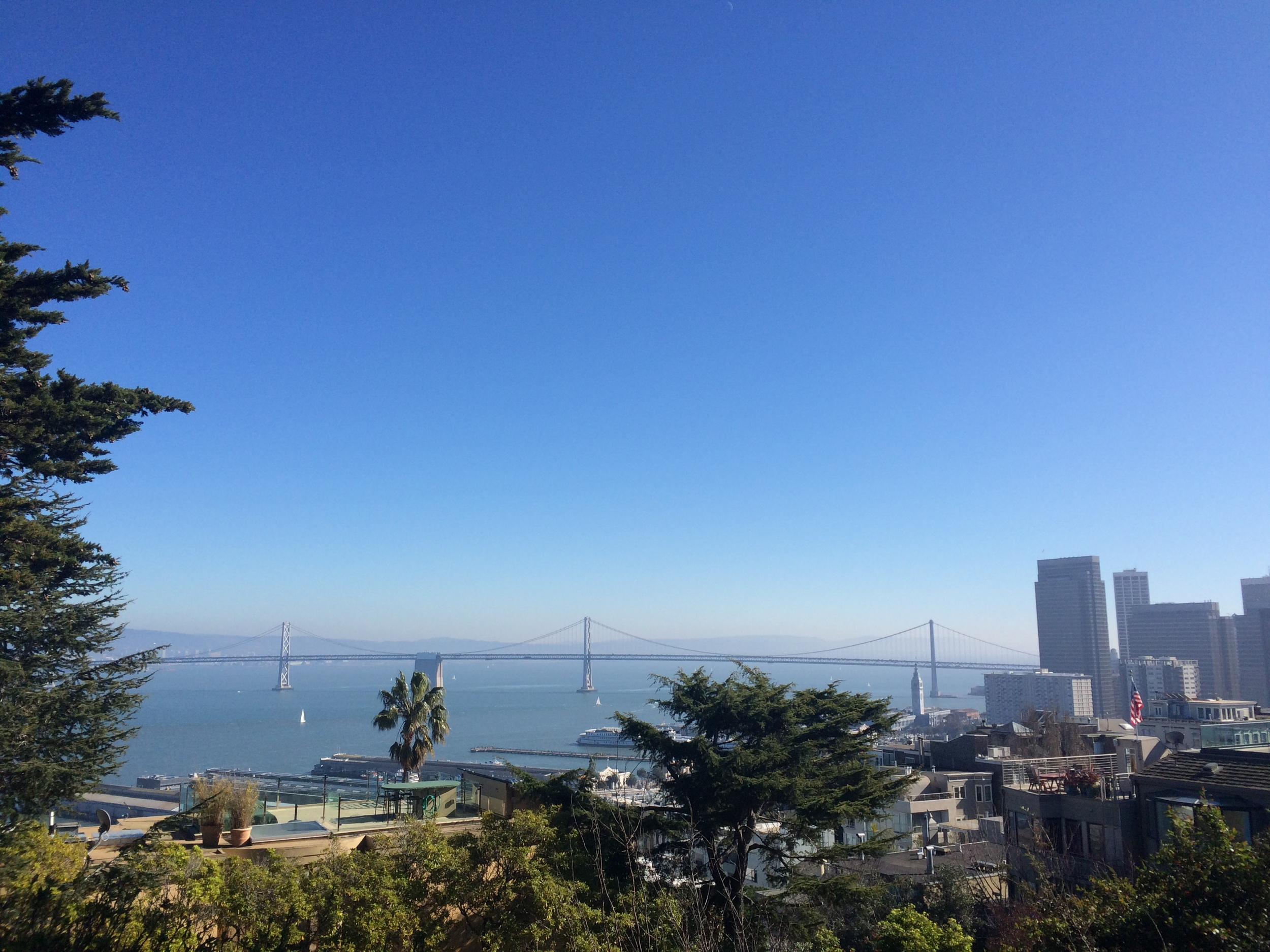 Bay Bridge view from Coit Tower // San Francisco, California