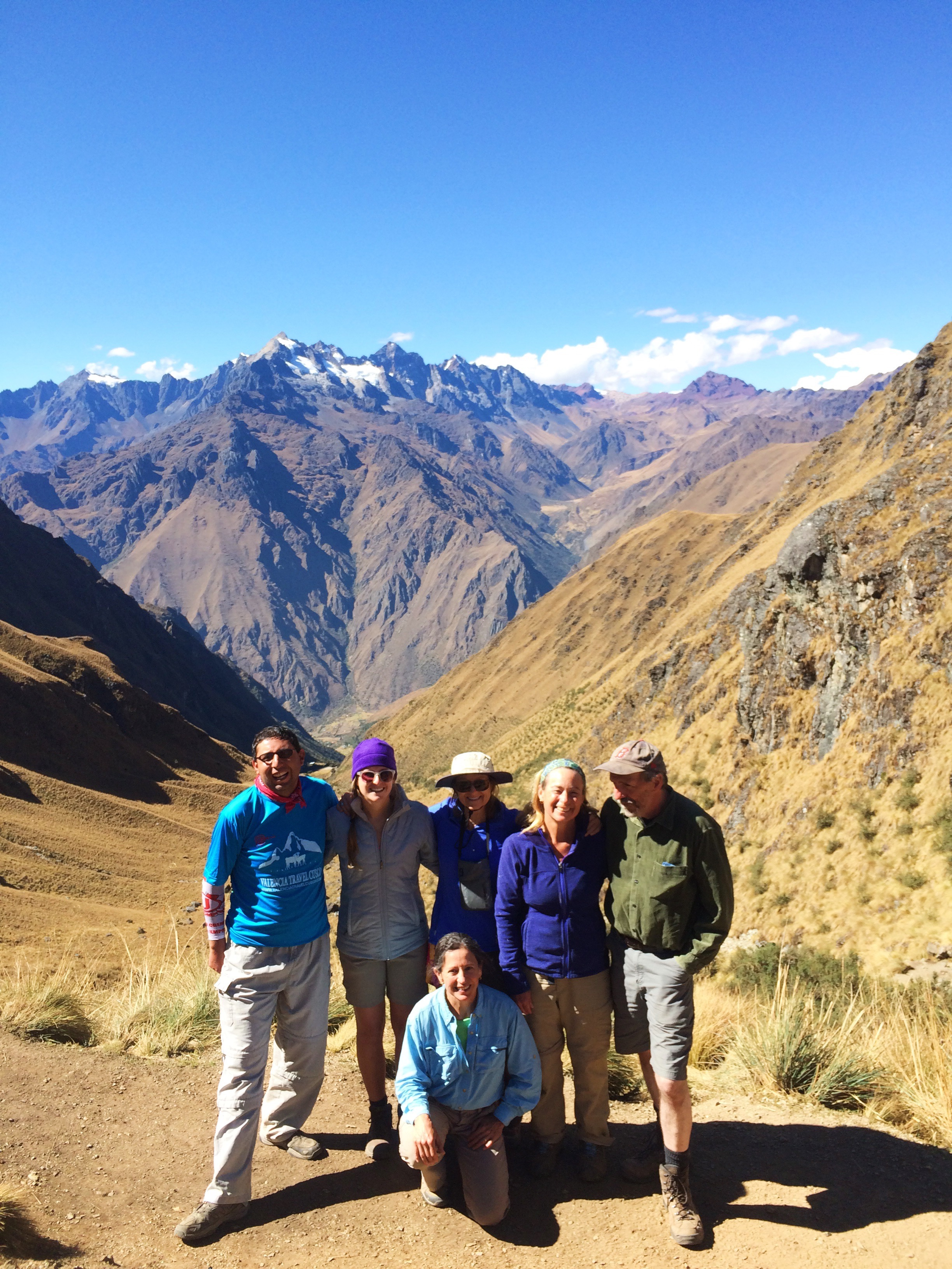 My Inca Trail group just after climbing Dead Woman's Pass on the second day!