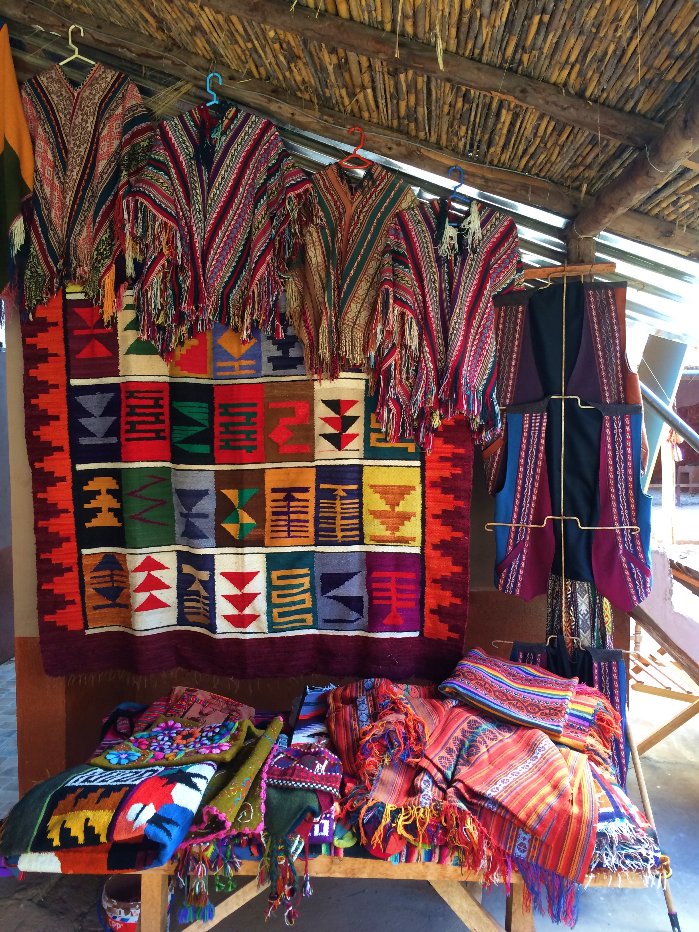 Beautiful handmade goods at a village in the Sacred Valley.