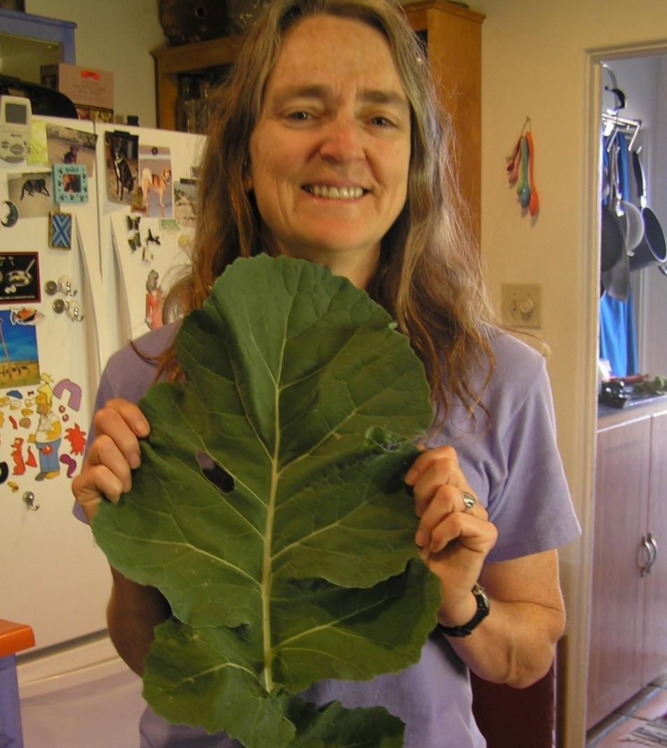 Mary with collard leaf
