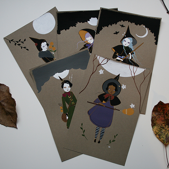 All the latest witches. (rainy day lighting)