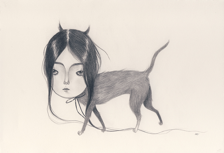 Long Haired Cat by Amy Earles