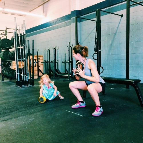 A little mommy-daughter time post-workout