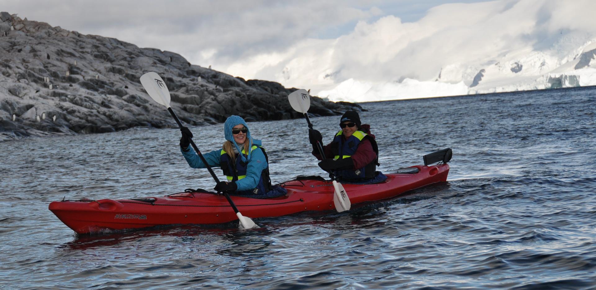 Caroline Pemberton - Kayaking Antarctica