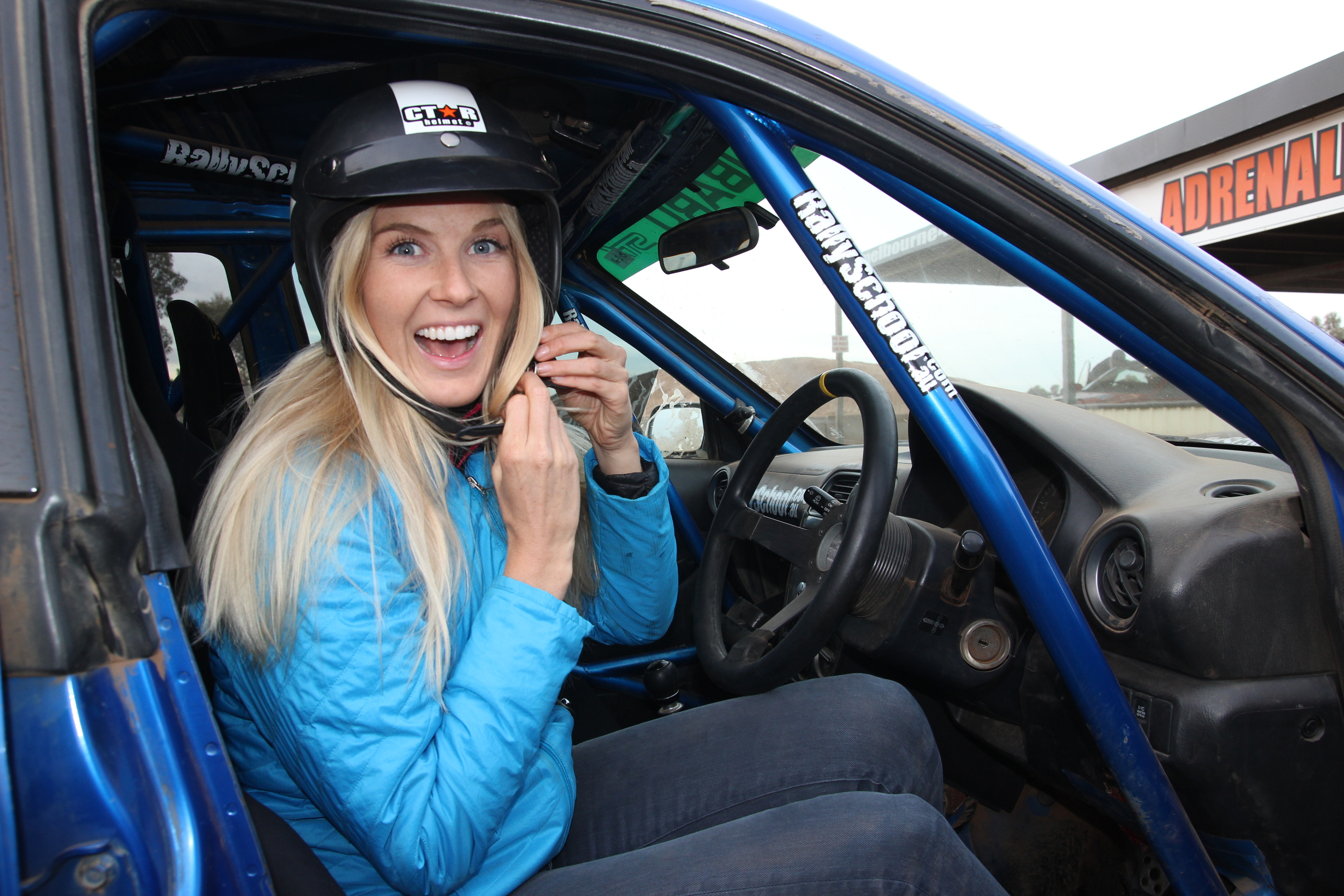 Caroline Pemberton - Rally Car