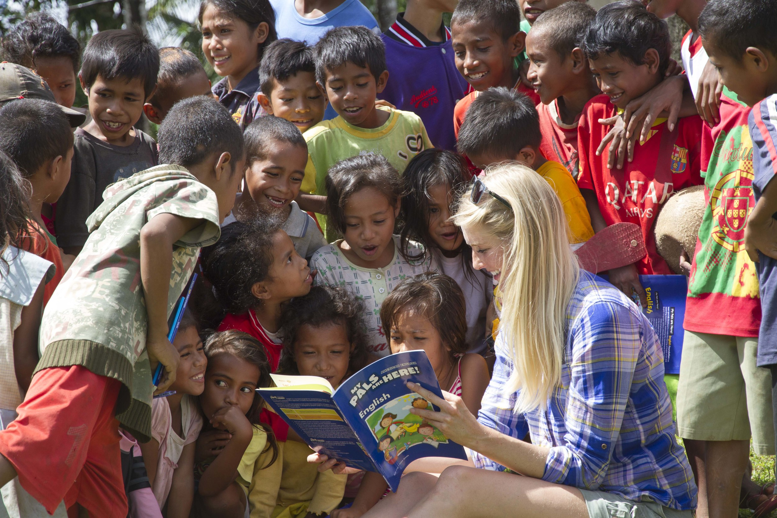 Caroline Pemberton - Teaching Timorese Children