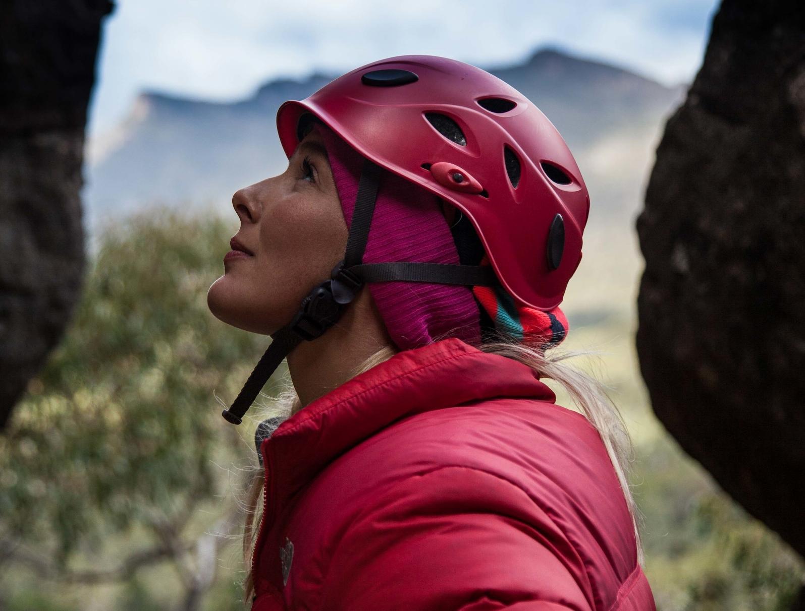Caroline Pemberton - Climbing (Photo Tim Thatcher)
