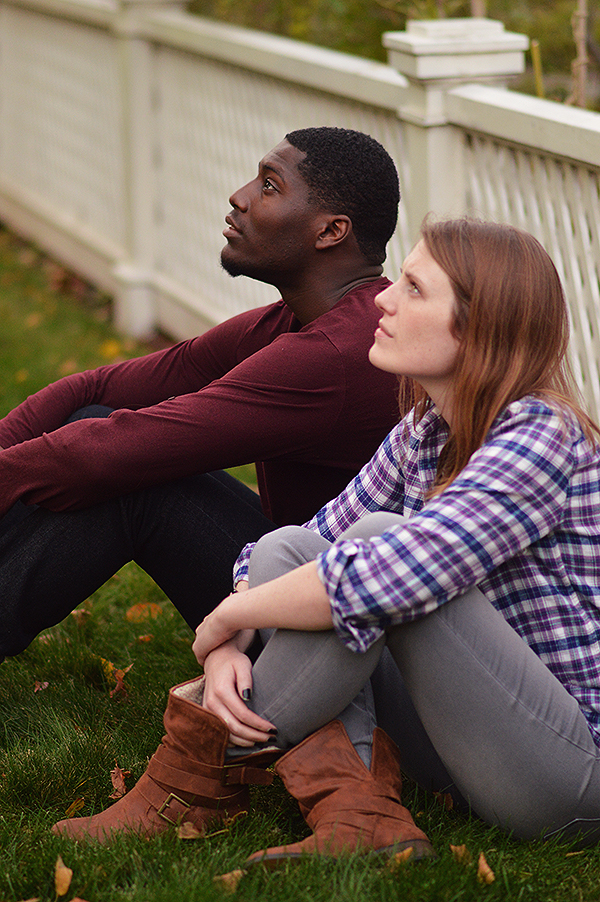 Sheldon Brown as Adams and Louise Hamill as Talia; Photo by E. Milanovich Photography