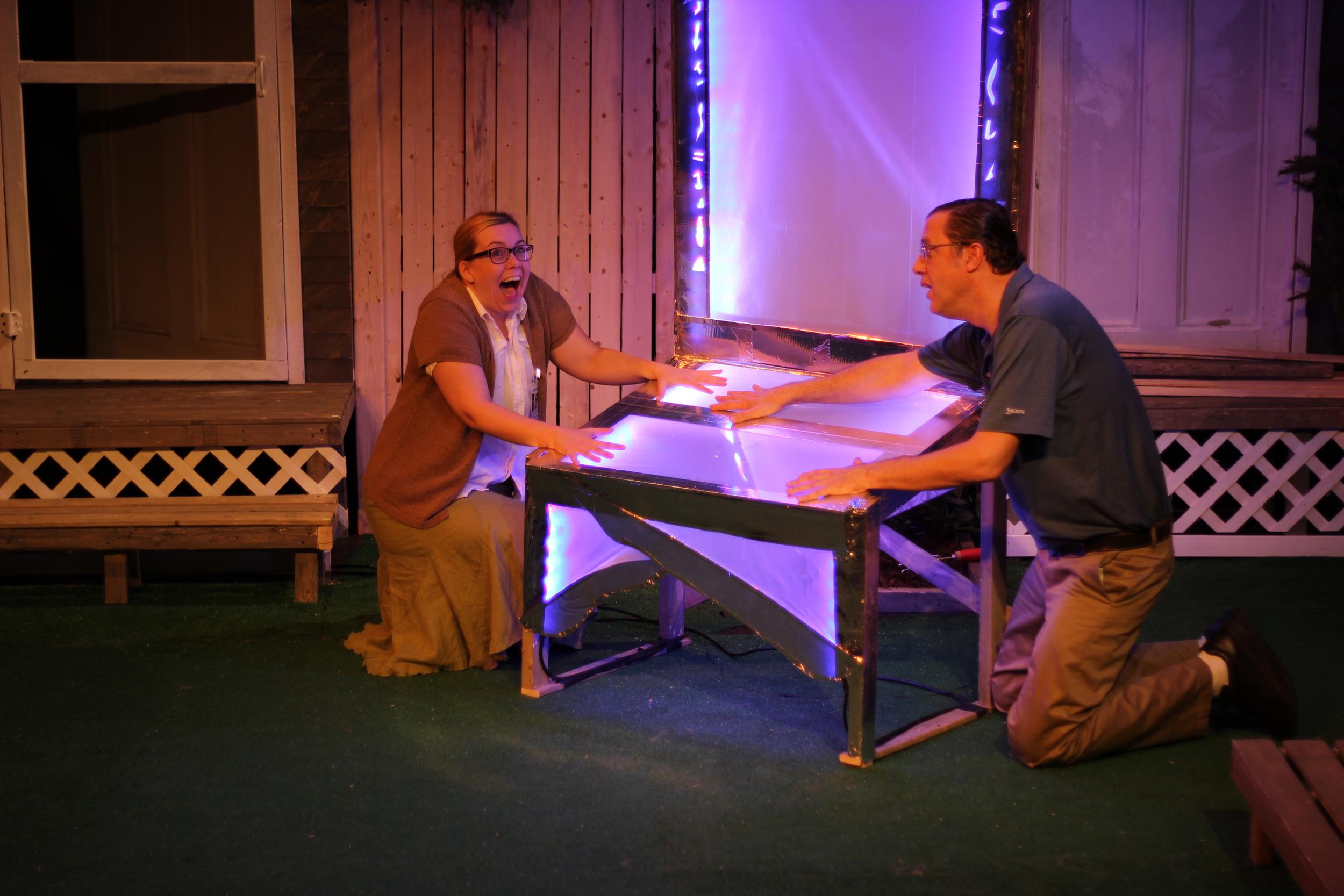 Gillian Mackay-Smith as Melanie and Daniel Boudreau as Griffin; Photo by Jessie Baxter