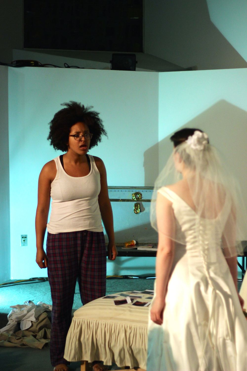 Shanae Burch as Electra and Melody Martin as Iphigenia