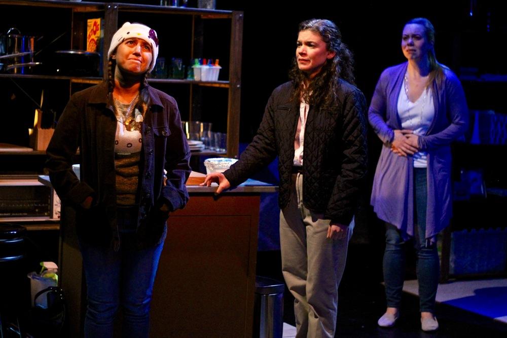 Margarita Martinez as Adelina, Alexis Scheer as Kaila, and Gillian Mackay-Smith as Carson
