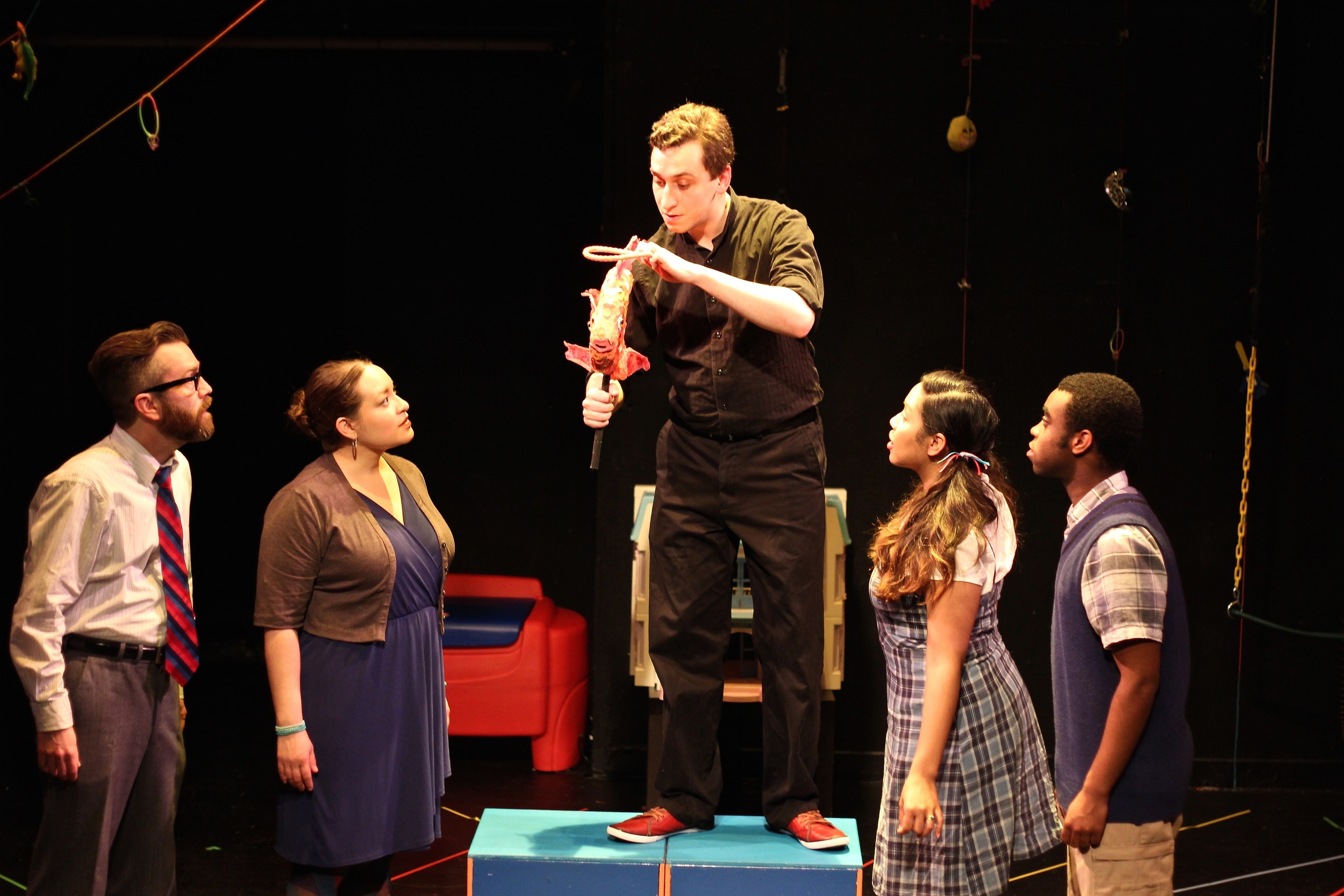 Scot Colford as Daddy, Karina Beleno Carney as Mommy, Noah Simes as And A Half, Ally Dawson as Daughtery, and Marc Pierre as Sonny