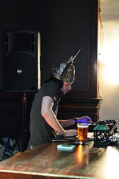 DJ Chris Larson at the Season Kick-off Party, 2014