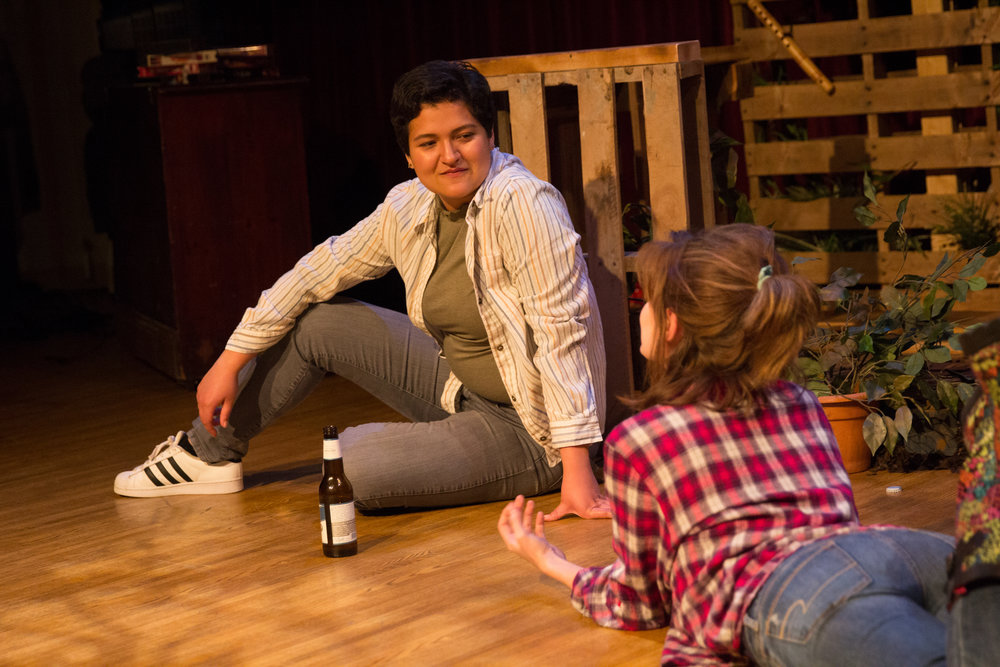 Alex Casillas as Lucy and Laura Baronet as Erica