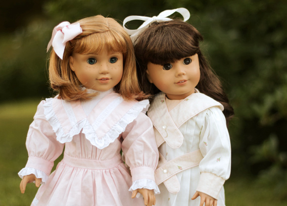 American Girl dolls Nellie and Samantha
