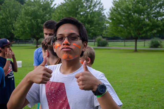 7. Two thumbs up for summer camp!