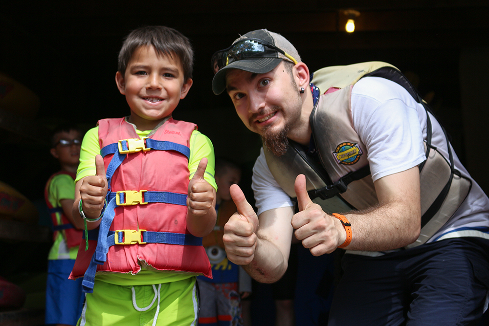 Campers get to experience new things, like boating