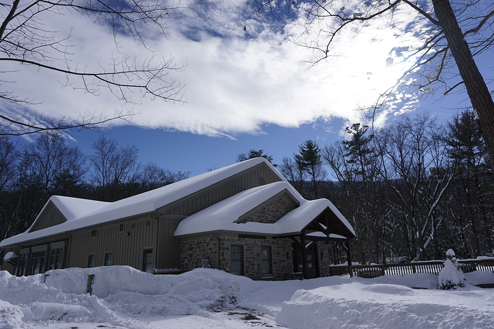 Mountainside Haven during the blizzard in January 2016,  click here to see more photos of the historic snowfall