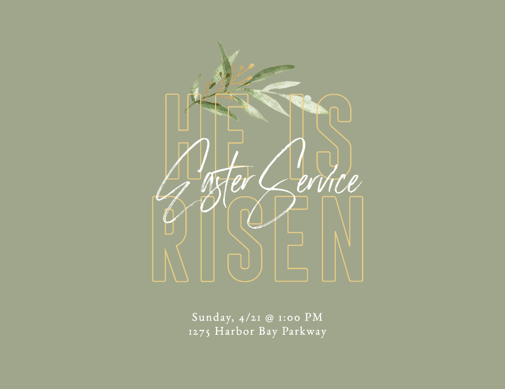 Come join us as we celebrate Easter Sunday! We'll be having an orchestra, time of praise, a message on Easter, and a barbecue afterwards! Don't miss out! Rides will be 12:15 pm @ Barrows.  When: 4/21/19 @ 1:00pm.  Where: Harbor Bay ( 1275 Harbor Bay  , Alameda )  What: Easter Sunday