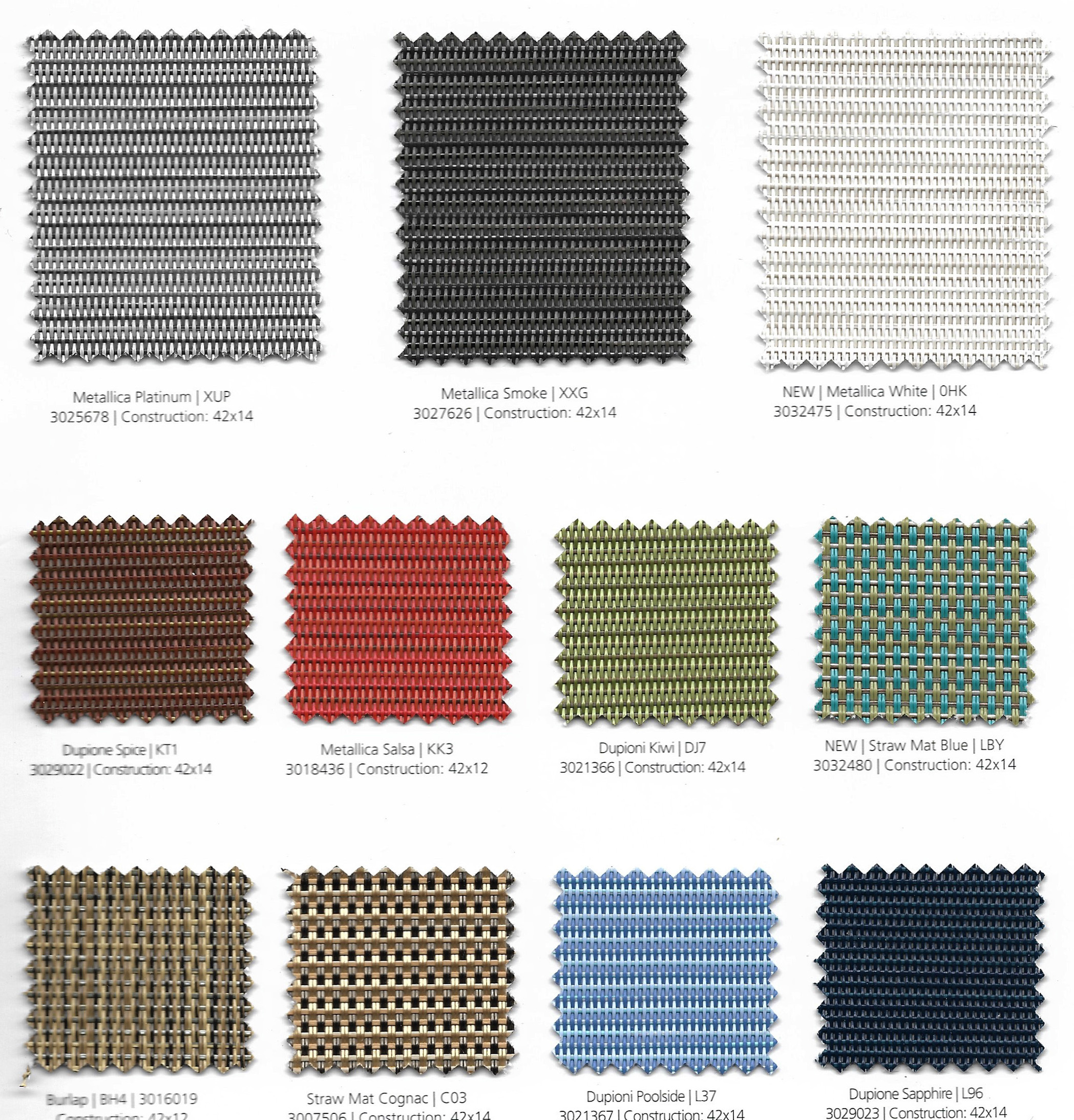 Our fabrics are PVC covered polyester. Which is known for its strength and durability. We also offer a variety of colors