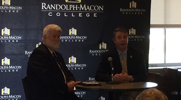 Rob Wittman (R-VA), R, with R-MC Provost Bill Franz on Thursday.