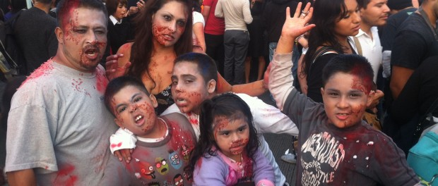 Image from W. Scott Koenig (http://agringoinmexico.com/2013/10/27/tijuana-invaded-by-zombie-hoards/)