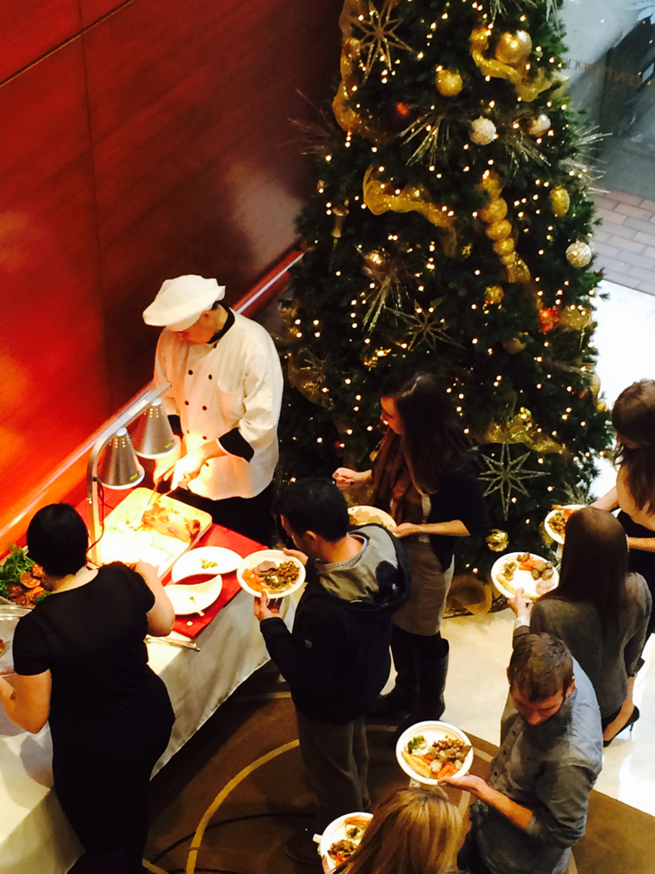 Holiday buffet for Centerpointe in Lake Oswego. We served 500 at this delightful event!!